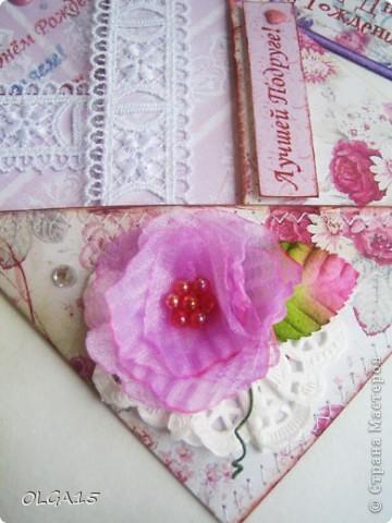 Начать решила с этой фотографии, чтобы было видно и саму открытку и собственно подставку из вилки. фото 10