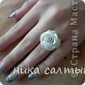 Моя приятельница заказала такое кольцо и сережки.Конечно выглядят на фото просто, но приятельнице понравился этот набор, а ее подруга заказала розовый. фото 1