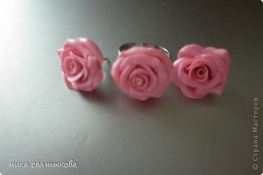 Моя приятельница заказала такое кольцо и сережки.Конечно выглядят на фото просто, но приятельнице понравился этот набор, а ее подруга заказала розовый. фото 3