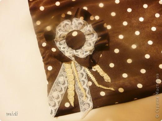Сумочка из обрезков ткани. Сумочка двухсторонняя. Внутри она джинсовая. фото 3