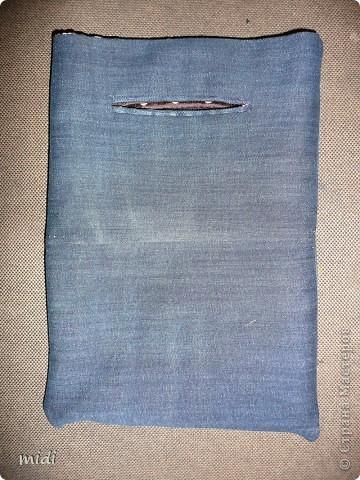 Сумочка из обрезков ткани. Сумочка двухсторонняя. Внутри она джинсовая. фото 4