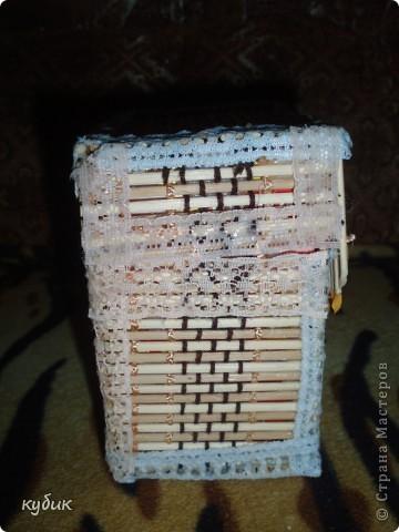 вот такую коробочку я смастерила для чайных пакетиков, спасибо огромное нашим мастерицам за идею!!!!!!!!!!!! фото 2