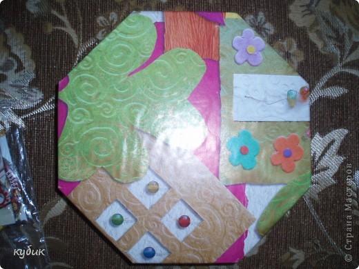 вот такую коробочку я смастерила для чайных пакетиков, спасибо огромное нашим мастерицам за идею!!!!!!!!!!!! фото 11