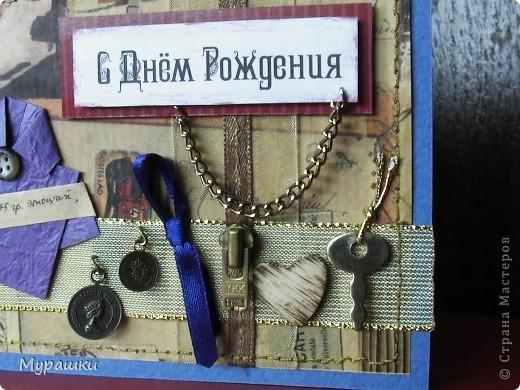 """На 18-летие с пожеланиями """"иметь в жизни всё"""". Поэтому так много всяких символов(галстук, монеты, сердце, ключ, замочек, цепь) фото 3"""