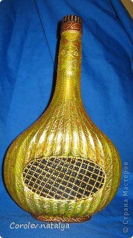 Обожаю подсолнухи, а увидев эту бутылку, почему-то решила сделать свой подсолнух. фото 2