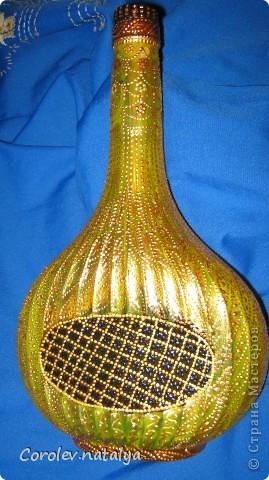 Обожаю подсолнухи, а увидев эту бутылку, почему-то решила сделать свой подсолнух. фото 5