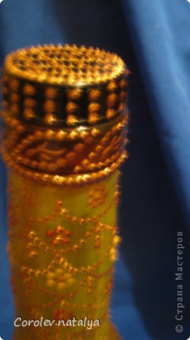 Обожаю подсолнухи, а увидев эту бутылку, почему-то решила сделать свой подсолнух. фото 9
