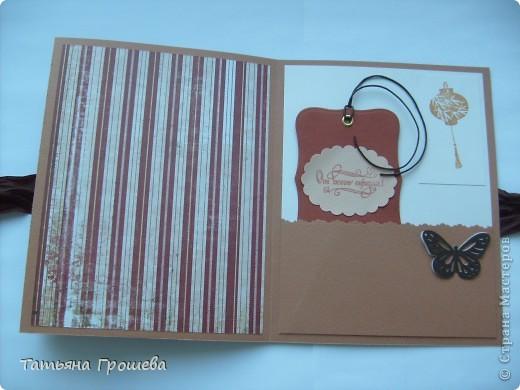 Этот мини - альбом для фотографий я сделала на мастер - классе по скрапбукингу у Тамары Александровны (ее работы здесь http://stranamasterov.ru/user/100407). фото 3