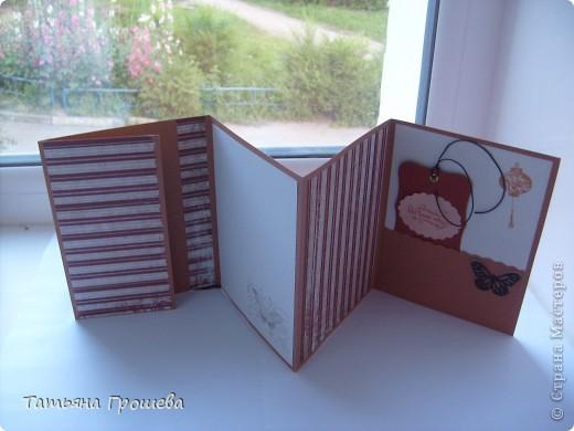 Этот мини - альбом для фотографий я сделала на мастер - классе по скрапбукингу у Тамары Александровны (ее работы здесь https://stranamasterov.ru/user/100407). фото 4