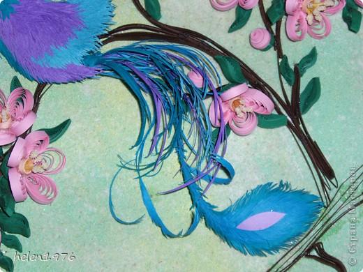 """Понравилась работа Ларисы Анатольевны """"Цветущий персик"""",  http://stranamasterov.ru/node/182301 , захотелось повторить, да и повод подвернулся - у мамы день рождения! фото 4"""