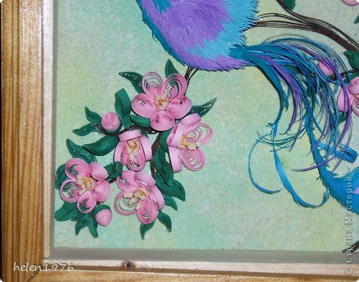 """Понравилась работа Ларисы Анатольевны """"Цветущий персик"""",  http://stranamasterov.ru/node/182301 , захотелось повторить, да и повод подвернулся - у мамы день рождения! фото 6"""