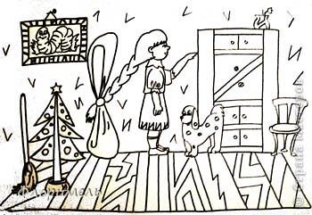 """Продолжаю выкладывать свои рисунки, объединенные общей темой """"Обучение грамоте дошколят"""". Первая часть здесь http://stranamasterov.ru/node/217614?tid=451 (буквы А,О). Сегодня будем искать буквы и звуки У, Ы, И. фото 10"""