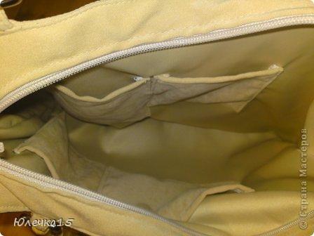 Вот такая получилась сумка. Волей случая ко мне попали бамбуковые ручки, пришлось найти им применение фото 4