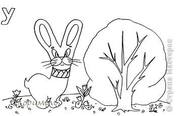 """Продолжаю выкладывать свои рисунки, объединенные общей темой """"Обучение грамоте дошколят"""". Первая часть здесь http://stranamasterov.ru/node/217614?tid=451 (буквы А,О). Сегодня будем искать буквы и звуки У, Ы, И. фото 3"""
