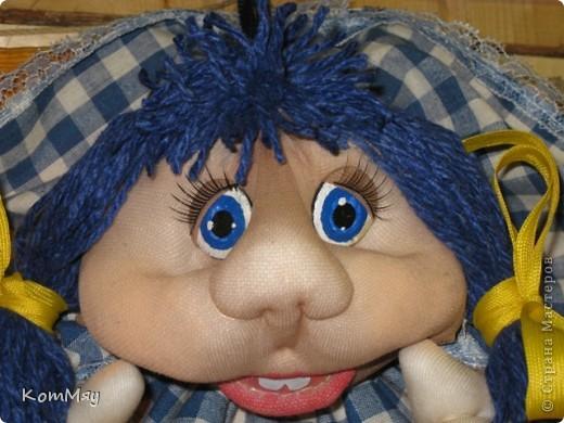 Эту девчушку я назвала Василисой. Ну, в смысле - василёчек, потому что она получилась вся такая голубая-голубая... фото 2