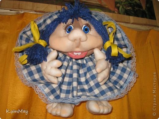 Эту девчушку я назвала Василисой. Ну, в смысле - василёчек, потому что она получилась вся такая голубая-голубая... фото 1