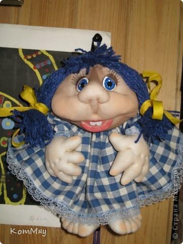 Эту девчушку я назвала Василисой. Ну, в смысле - василёчек, потому что она получилась вся такая голубая-голубая... фото 3
