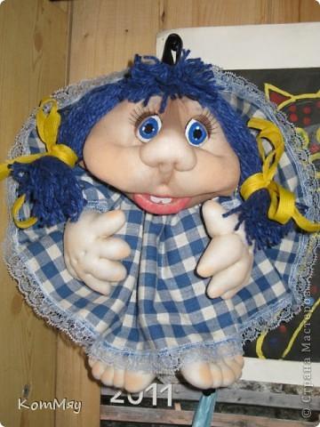 Эту девчушку я назвала Василисой. Ну, в смысле - василёчек, потому что она получилась вся такая голубая-голубая... фото 4