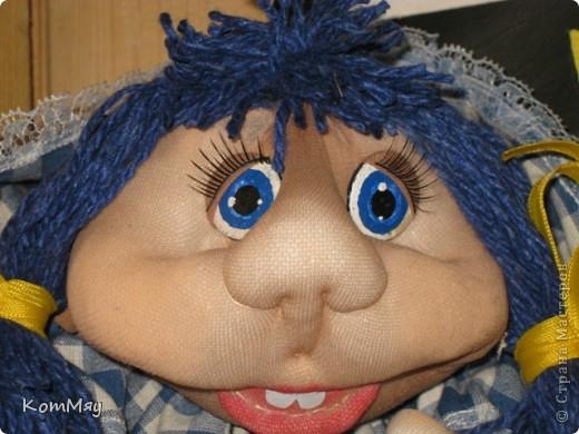 Эту девчушку я назвала Василисой. Ну, в смысле - василёчек, потому что она получилась вся такая голубая-голубая... фото 5