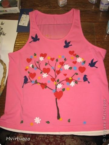 Вот такое сердечное деревце выросло на маечке для дочки. И такая цветочная феечка прилетела на день рождения к подружке. фото 4