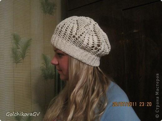 Нужно было срочно связать шапочку для девушки. Условие одно: резиночка 4,5 см. Ажур любой. фото 2
