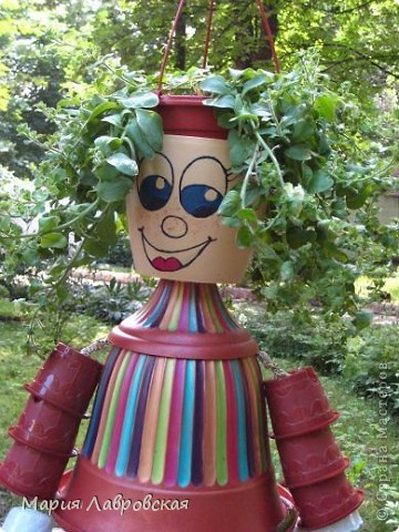 Человечек был сделан  для украшения площадки в Детском Саду. Немножко кривой, немного косой, но все-таки смешной.  фото 2