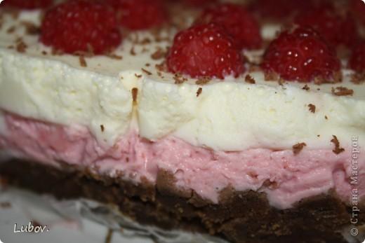 Летний торт с малиной. фото 3
