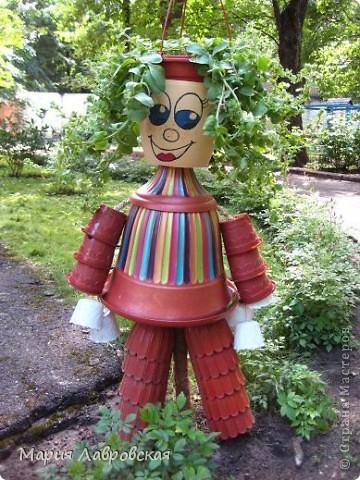 Человечек был сделан  для украшения площадки в Детском Саду. Немножко кривой, немного косой, но все-таки смешной.  фото 3