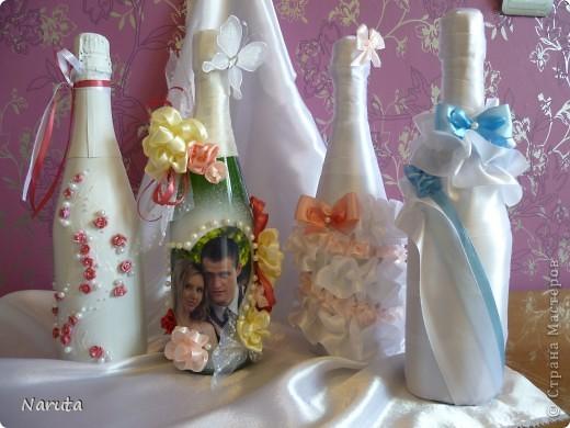 Мой первый опыт в декорировании бутылочек.   фото 1