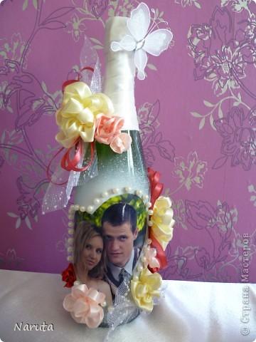 Мой первый опыт в декорировании бутылочек.   фото 2