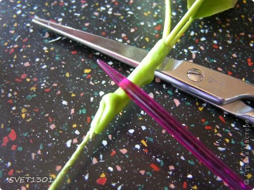 И так продолжим! Если вы не ленились и выполнили  домашнее задание, то сначала займёмся подготовкой листиков. У яблони обратная сторона листьев белёсая , следовательно её необходимо закрасить белой краской. Берём на кисть ОЧЕНЬ маленькое количество краски и растушёвываем по листику (лишнее можно стереть салфеткой) фото 6