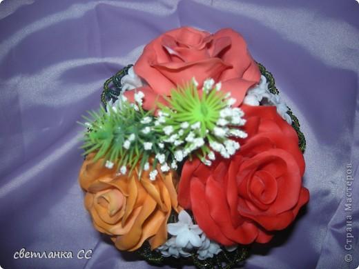 Розы в корзиночке Бисероплетение Лепка Плетение.