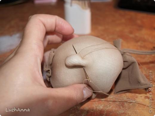 """МК по созданию куклы """"Замарашка"""". Часть 1 - голова. фото 24"""