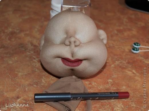 """МК по созданию куклы """"Замарашка"""". Часть 1 - голова. фото 28"""