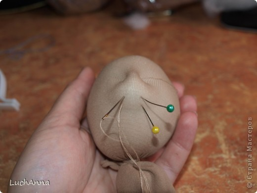 """МК по созданию куклы """"Замарашка"""". Часть 1 - голова. фото 6"""