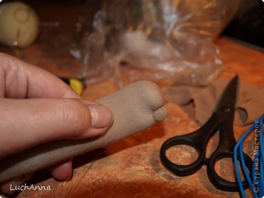 Замарашечка во всей красе))) Кукла, которая может получится в результате этого МК. первая часть МК находится здесь: http://stranamasterov.ru/node/218315 фото 36