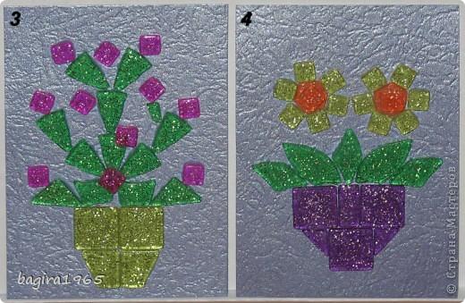 """Была у меня в мешочке мозаика... каких-то разных форм... хотела сделать сначала всего 3 АТСки. А потом что-то разошлась, сделалось 6 штук, и оказалось, что еще не все замыслы реализовала, очень понравилось складывать фигурки... И вот, серия, состоящая из 10 штук. Фон - металлизированный тисненый картон сиреневого цвета """"металлик"""", мозаика с блестками внутри.  Сначала, как всегда, выберут сестра с племянницей, потом кредиторы, если они у меня есть, что-то совсем не ориентируюсь сейчас... Ну, а потом уж... на обмен и в долг, наверное это будет уже завтра к вечеру. И еще... за границу посылать эту серию не желательно бы, так как АТСки достаточно тяжелые и объемные... прошу отнестись к этому с пониманием. фото 4"""