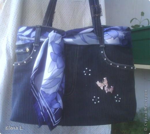 Джинсы  сыну  стали   малы,  а  для  сумки  самый  раз. фото 1