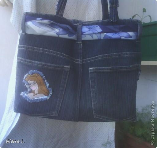 Джинсы  сыну  стали   малы,  а  для  сумки  самый  раз. фото 2