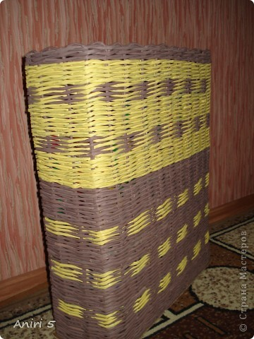 Эту корзинку сплела в подарок сестренки. Размер 20*12 см. фото 3
