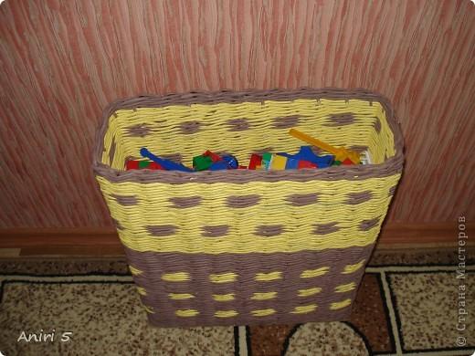Эту корзинку сплела в подарок сестренки. Размер 20*12 см. фото 4
