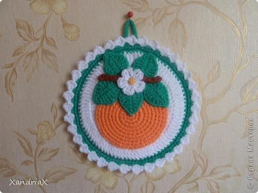 """Прихватка """"Апельсин"""" фото 1"""