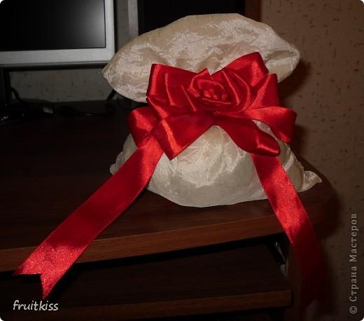 Мешочек делала сама и бантик из ленточки тоже))))  фото 1