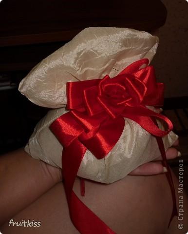Мешочек делала сама и бантик из ленточки тоже))))  фото 3