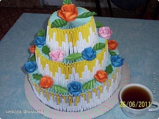 Тортик ко дню рождения дочери!