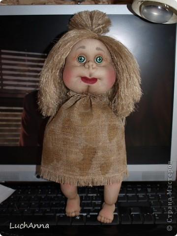 Замарашечка во всей красе))) Кукла, которая может получится в результате этого МК. первая часть МК находится здесь: https://stranamasterov.ru/node/218315 фото 87