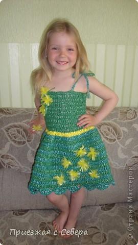 Платье связано специально для участия в Мусорном карнавале. Связано из пакетов для мусора фото 2