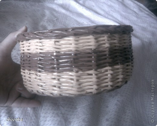 проба плетения крашенными трубочками фото 3