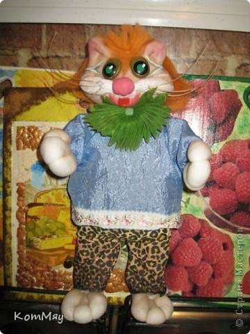 Привет всем жителям Страны Мастеров! Меня зовут Кот Леопольд. Сначала из меня хотели сделать Кота в Сапогах, но я решил, что это не моя сущность, поэтому уговорил сделать меня Леопольдом. Ну, как - похож? фото 8