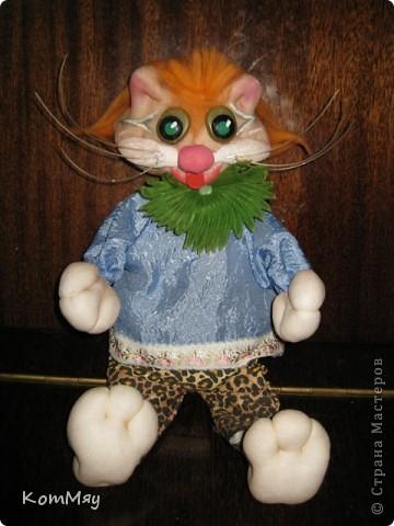 Привет всем жителям Страны Мастеров! Меня зовут Кот Леопольд. Сначала из меня хотели сделать Кота в Сапогах, но я решил, что это не моя сущность, поэтому уговорил сделать меня Леопольдом. Ну, как - похож? фото 4
